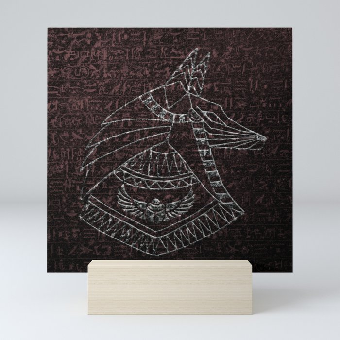 Anubis Egyptian God Mini Art Print