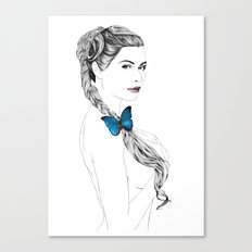 Butterfly Girl Canvas Print