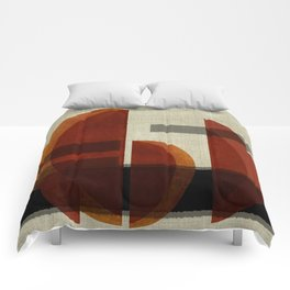 """Abstract Ships at Sunset"" Comforters"