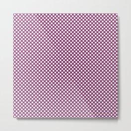 Sugar Plum and White Polka Dots Metal Print