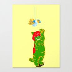 Here Battle Kitty Kitty Canvas Print