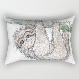 Be Slothful like a Sloth Rectangular Pillow