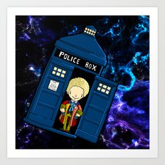 Tardis in space Doctor Who 6 Art Print