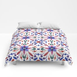Floral ornament. Watercolor Comforters