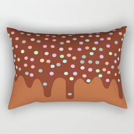 Dripping Melted chocolate Glaze with sprinkles Rectangular Pillow
