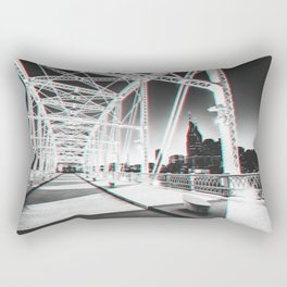 Nashville at night in 3D Rectangular Pillow