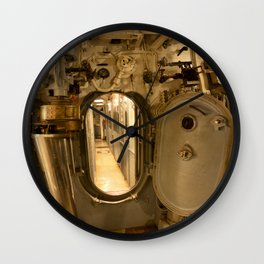 The USS Batfish SS-310 - The Torpedo Room Bulkhead View of the Officers' Quarters Wall Clock