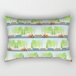 Cars and trees pattern Rectangular Pillow