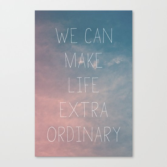 Extraordinary I Canvas Print