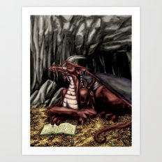 The Dragon's Cave Art Print
