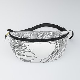 Hair in the Wind, in transparent/black Fanny Pack