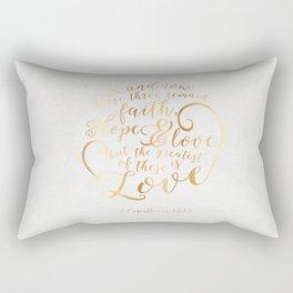 Faith, Hope & Love Rectangular Pillow