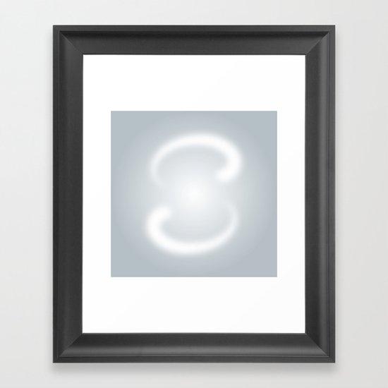S like S Framed Art Print