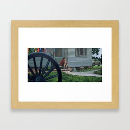 In Between Time Framed Art Print