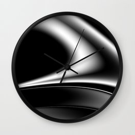 black and white -a- Wall Clock