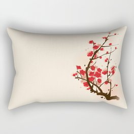 Oriental plum blossom in spring 012 Rectangular Pillow