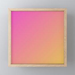 Pink cute gradient color Framed Mini Art Print