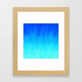 Icy Blue Blast Framed Art Print