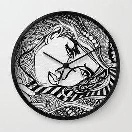 Zentangle Lichtenstein Wall Clock