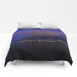 Seattle nightscape Comforters