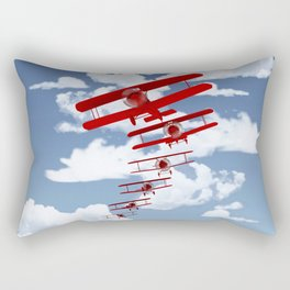 Retro Biplanes Rectangular Pillow