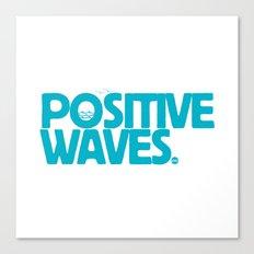 Positive Waves (Blue) Canvas Print