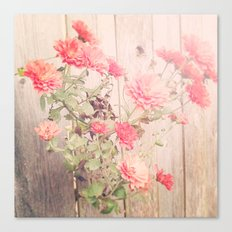 Flowers on the Wall Canvas Print