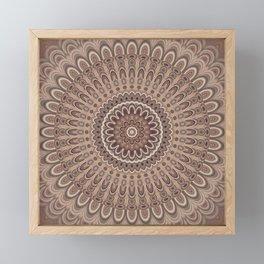 Cappuccino mandala Framed Mini Art Print