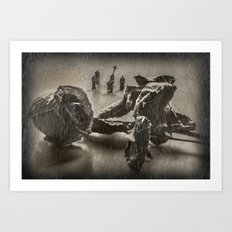 The Curious Case Of Rosebud Art Print