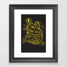 The Golden Eel (in yellow gold) Framed Art Print
