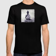 Buddha  - JUSTART © Mens Fitted Tee Black X-LARGE