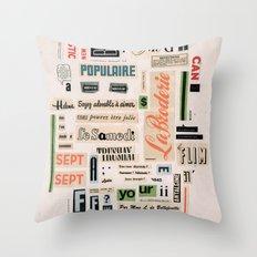 Soyez adorable à aimer  Throw Pillow