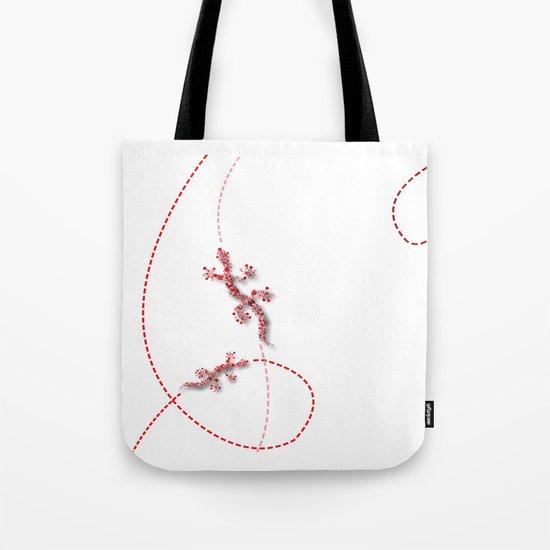 Running Lizard Tote Bag