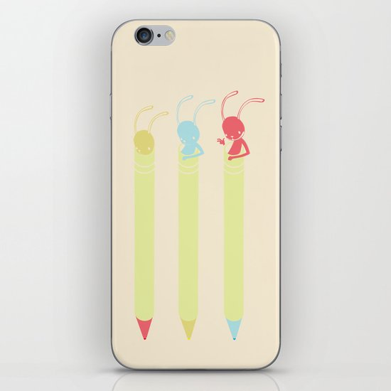 INK BUNNY & ROLL iPhone & iPod Skin