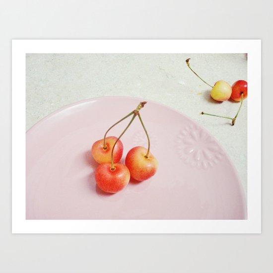 ranier cherries. Art Print