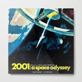 2001 A Space Odyssey 1968 American Lobby Broadside Vintage Film Poster Metal Print