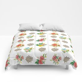 Pretty Floral Boutiques of Flowers Comforters