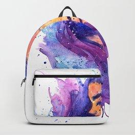 Gemini Zodiac Sign Watercolor Splatter Art  Backpack