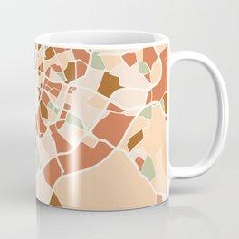 MADRID SPAIN CITY MAP EARTH TONES Coffee Mug
