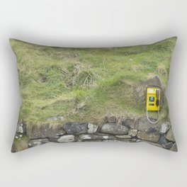 Phone in the Mountain Side Rectangular Pillow