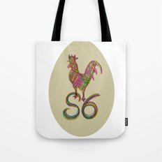 the rooster in the morning Tote Bag