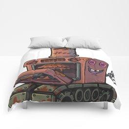 Robot pie thrower Comforters