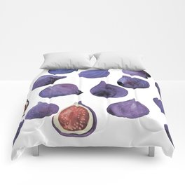 figs violet Comforters