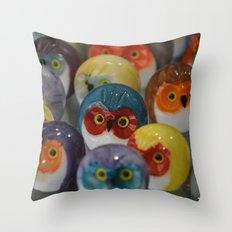 Alabaster Owls Throw Pillow