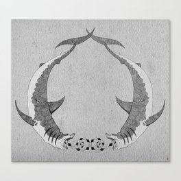 2shark Canvas Print