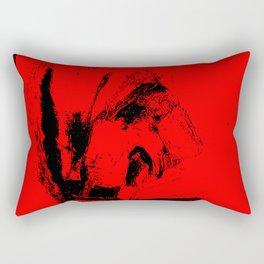 Red an black chaos Rectangular Pillow