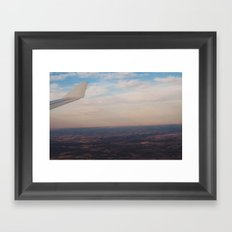Flying in at Sunset Framed Art Print