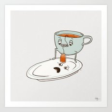 Tea Baggin' Art Print