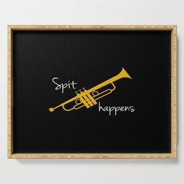 Spit Happens Trumpet Serving Tray
