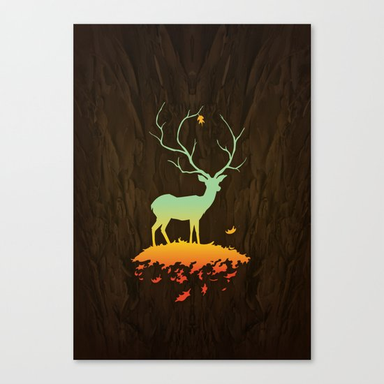 Fawn and Flora Canvas Print